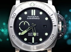 Panerai Submersible Marina-Mike Horn/Adventure Edition/Black-Kautschuck