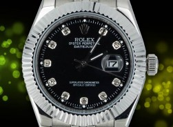 Rolex Datejust - Black/Diamonds