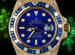 Rolex Submariner Date - Gold Blue Diamonds 2018