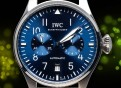 IWC Big Pilot´s Watch 2021 7 Days Reserve-Blau Leder Braun