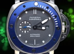 Panerai Submersible 2020 Grey-Dial/Blue Kautschuck